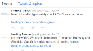 Heating Rescue Twitter